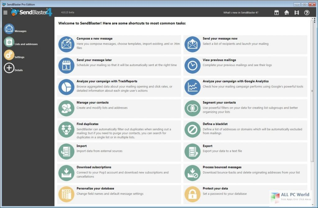Sendblaster Pro 4.3 Free Download