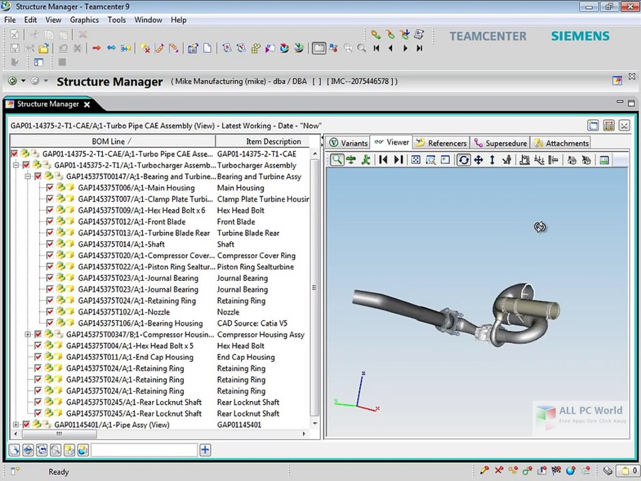 Siemens PLM TeamCenter 9.1