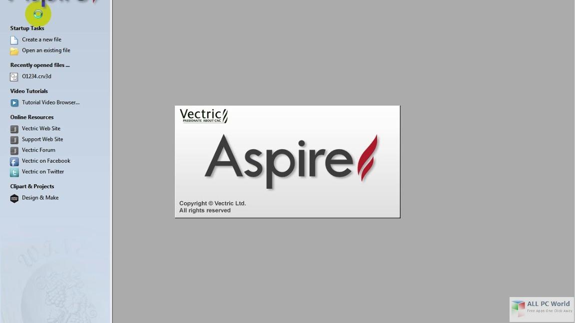 Vectric Aspire 9.0