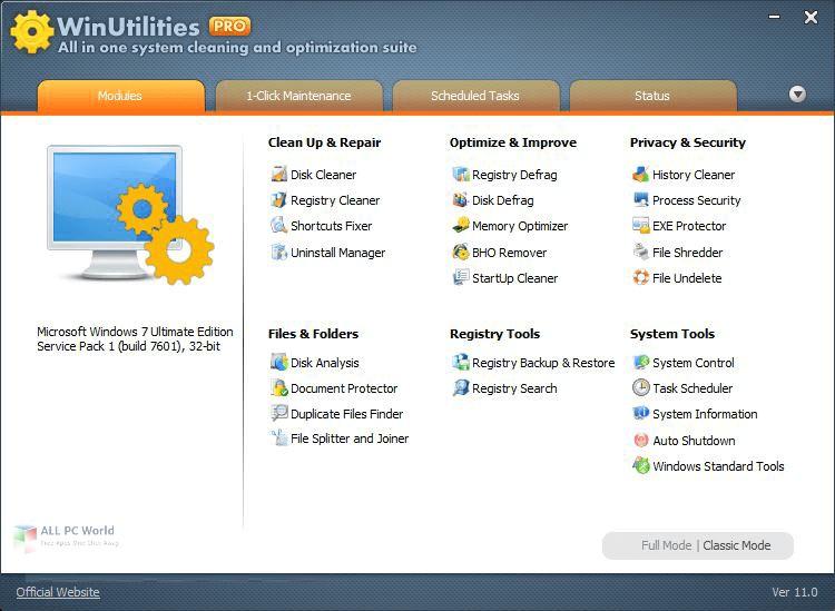 WinUtilities Professional Edition 15.4 Free Download