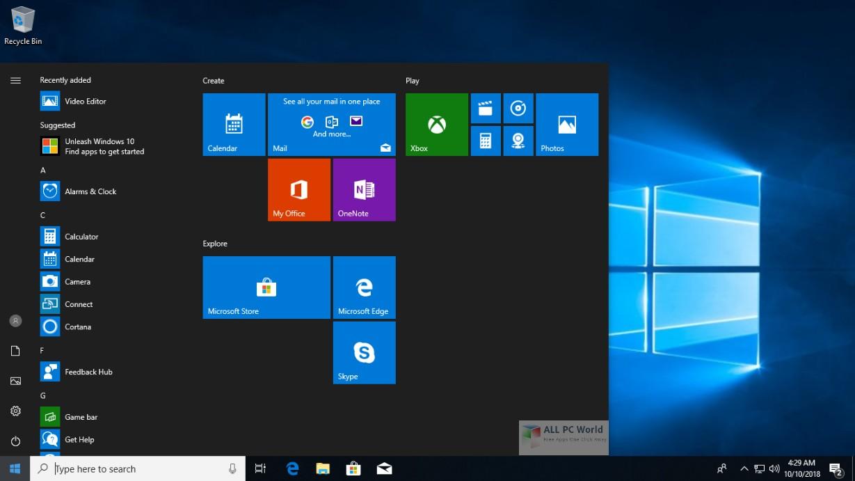 Windows 10 Pro Rs5 Oct 2018