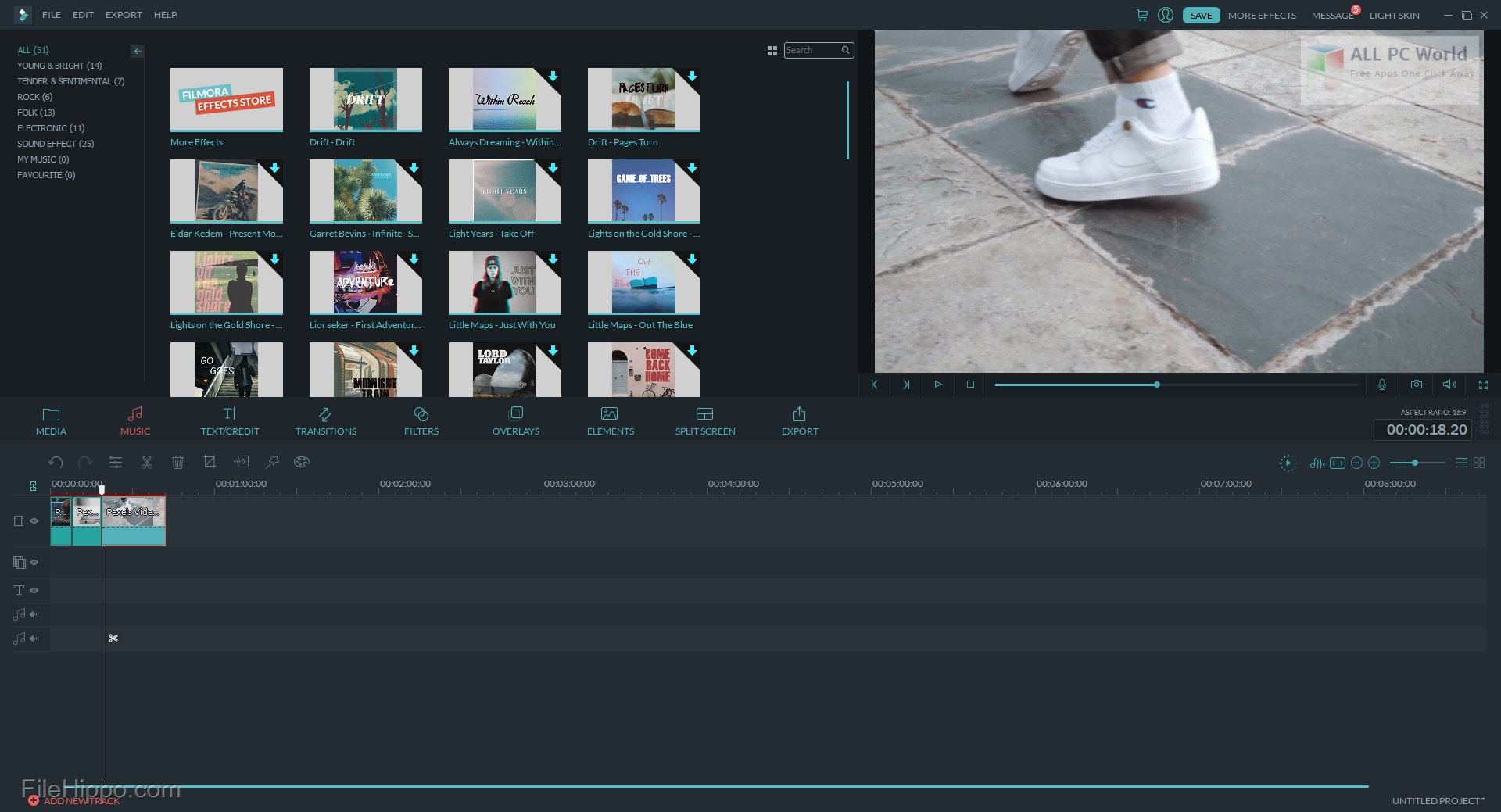 filmora effects download