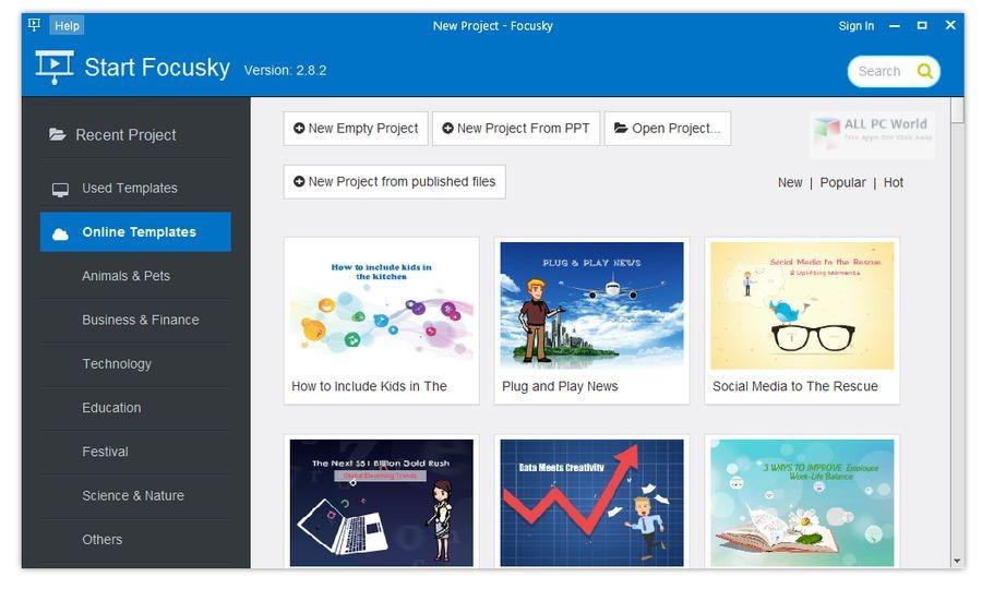 Focusky Presentation Maker Pro 2.8 Free Download