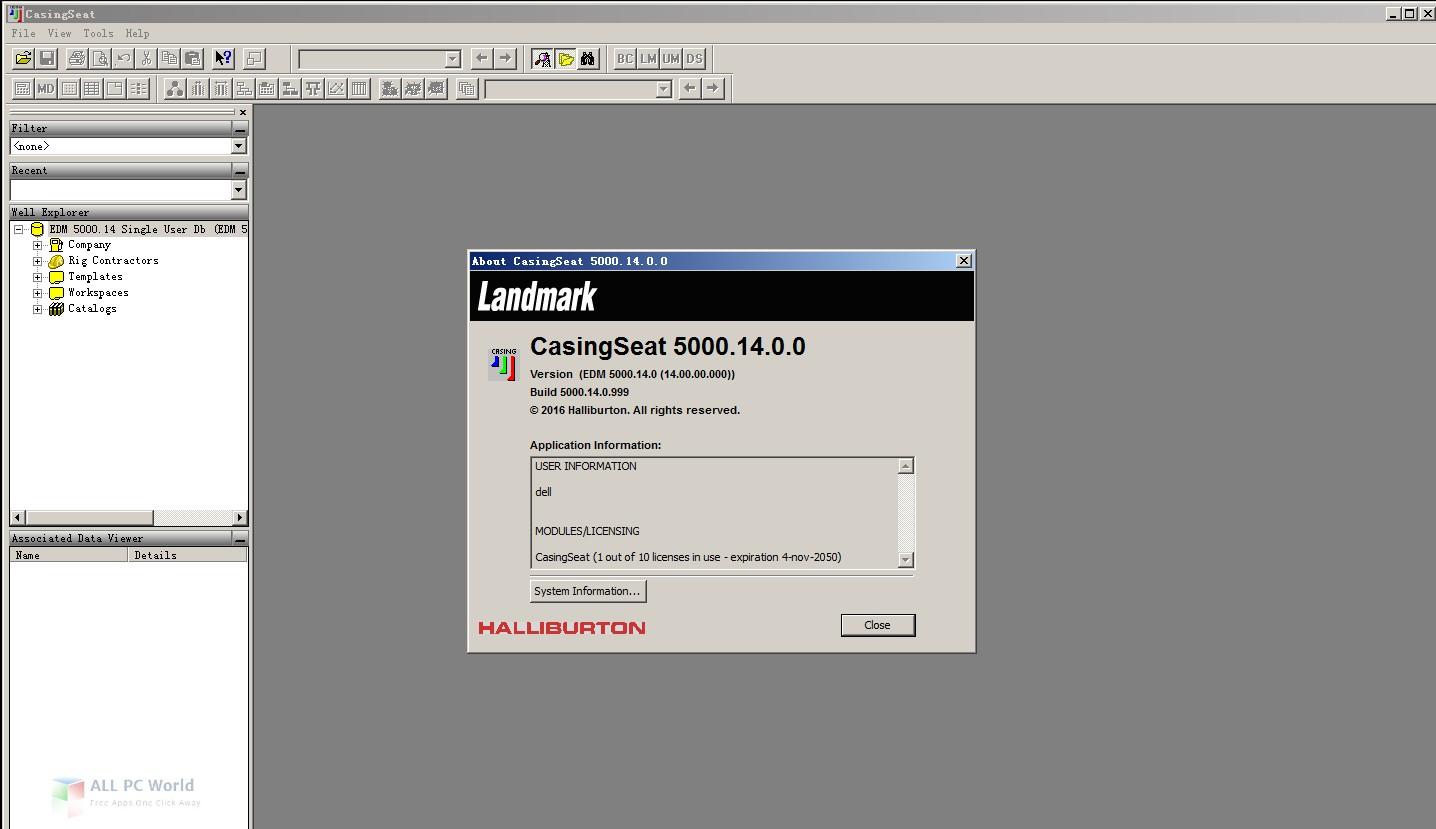 Halliburton Landmark Engineer's Desktop 5000