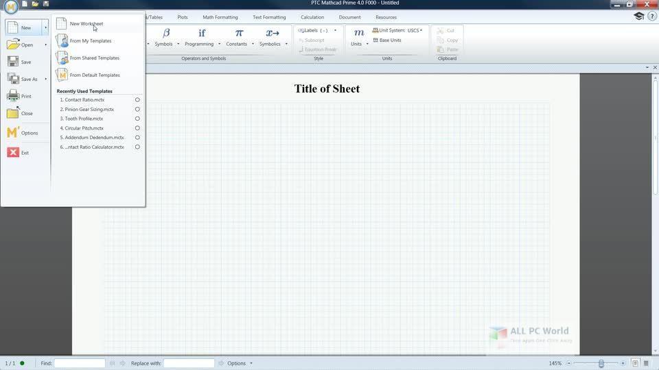 PTC Mathcad Prime 5.0 Free Download