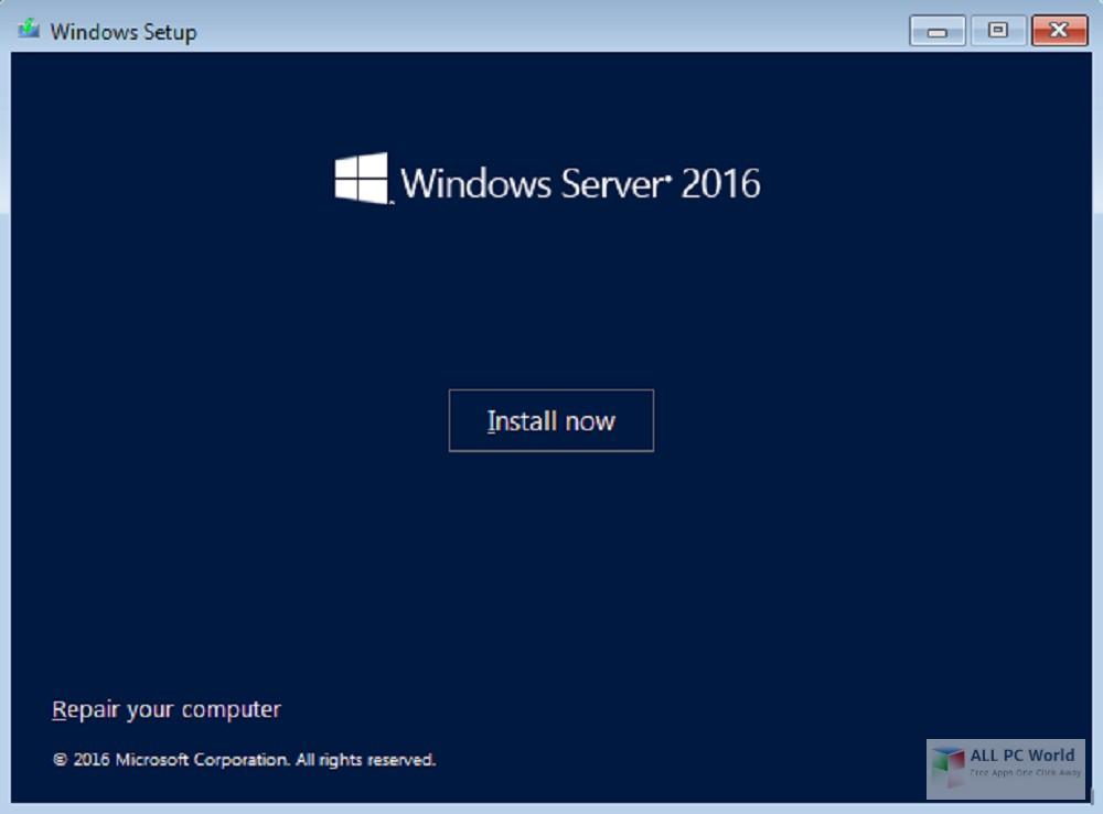 Windows Server 2016 x64 VL Dec 2018 Free Download