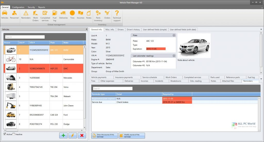 Vinity soft Vehicle Fleet Manager 2021 Free Download