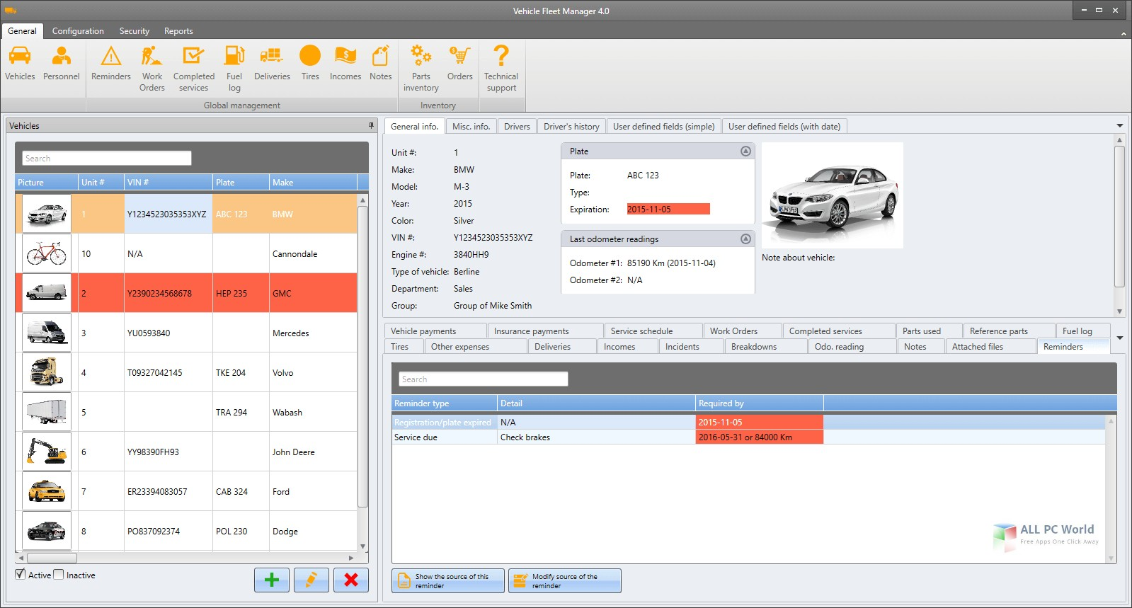Vinity soft Vehicle Fleet Manager 4.0 Free Download