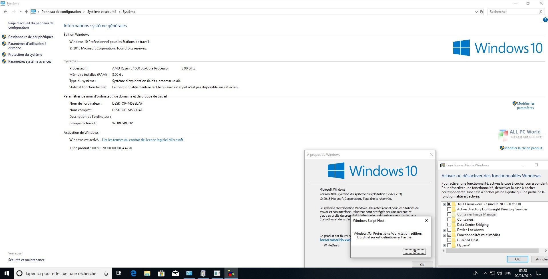 Windows 10 RS5 AIO with January 2019