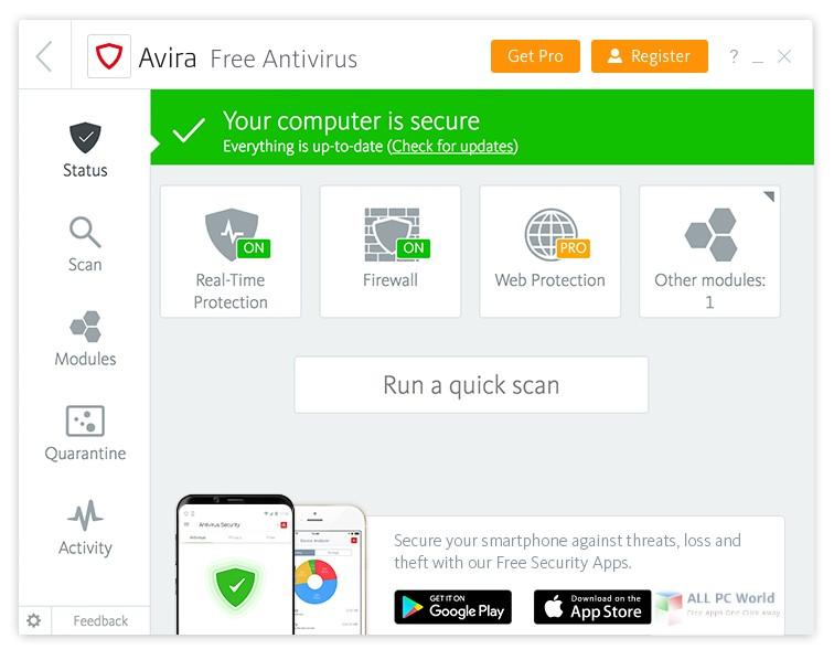 Avira Antivirus Pro 2018 v15.0 Free Download