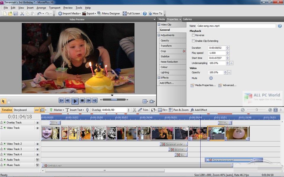 Serif MoviePlus X6 v8.0 Free Download