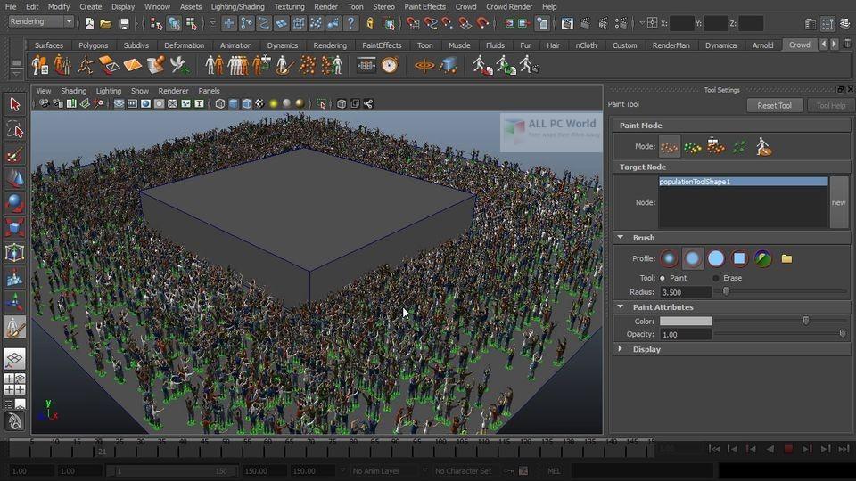 Golaem Crowd 6.4.3 for Maya Free Download