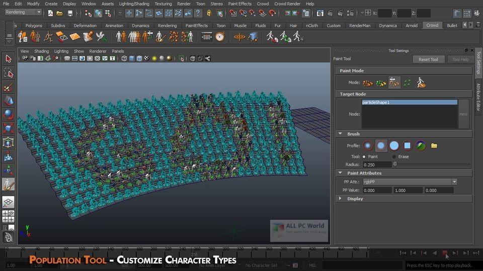 Golaem Crowd 6.4.3 for Maya