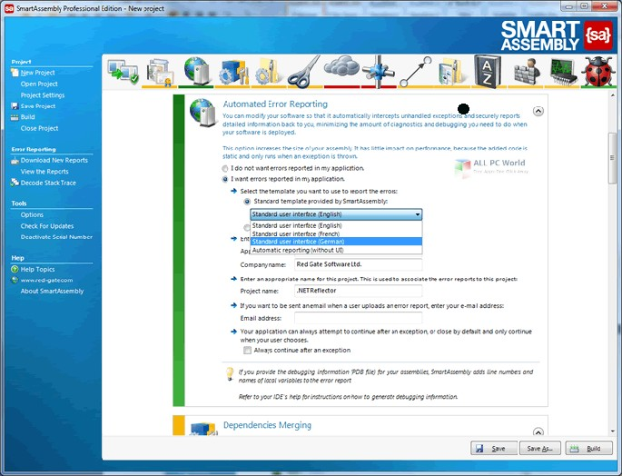 Red Gate SmartAssembly Professional 7.0 Free Download