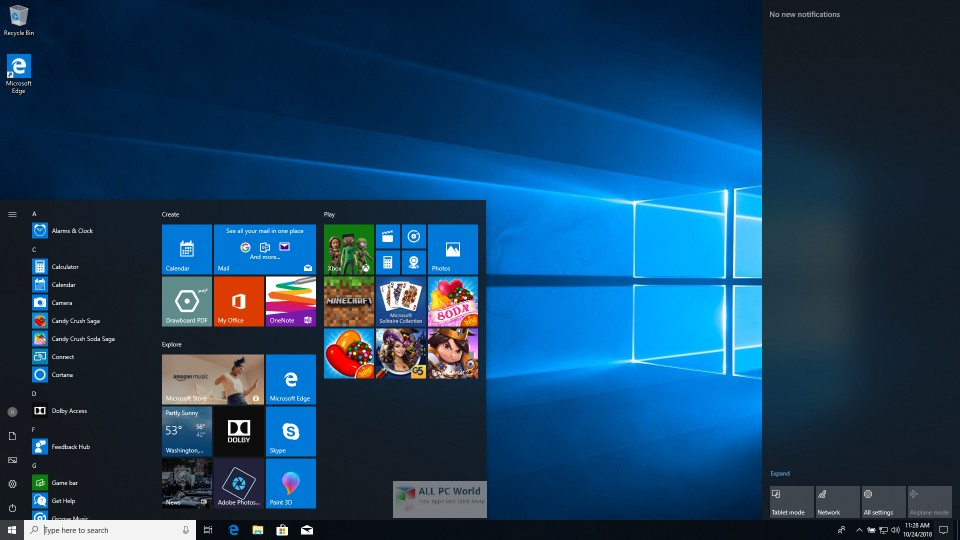 Windows 10 RS5 AIO v1809 March 2019 Free Download