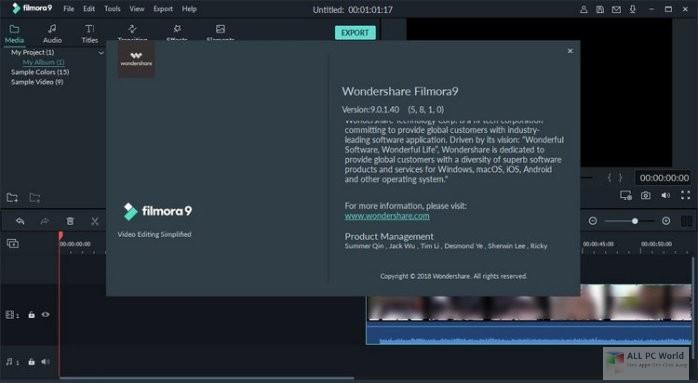 Wondershare Filmora 9.1 Free Download