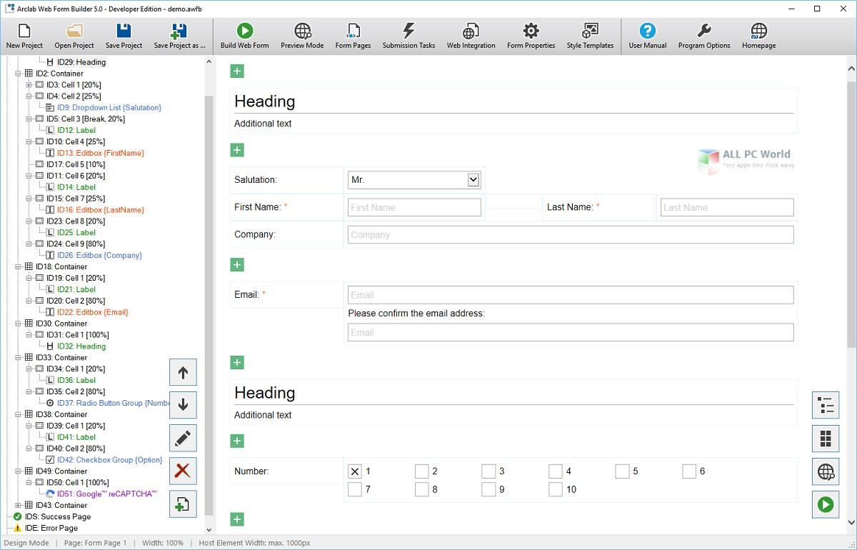 Arclab Web Form Builder 5.0