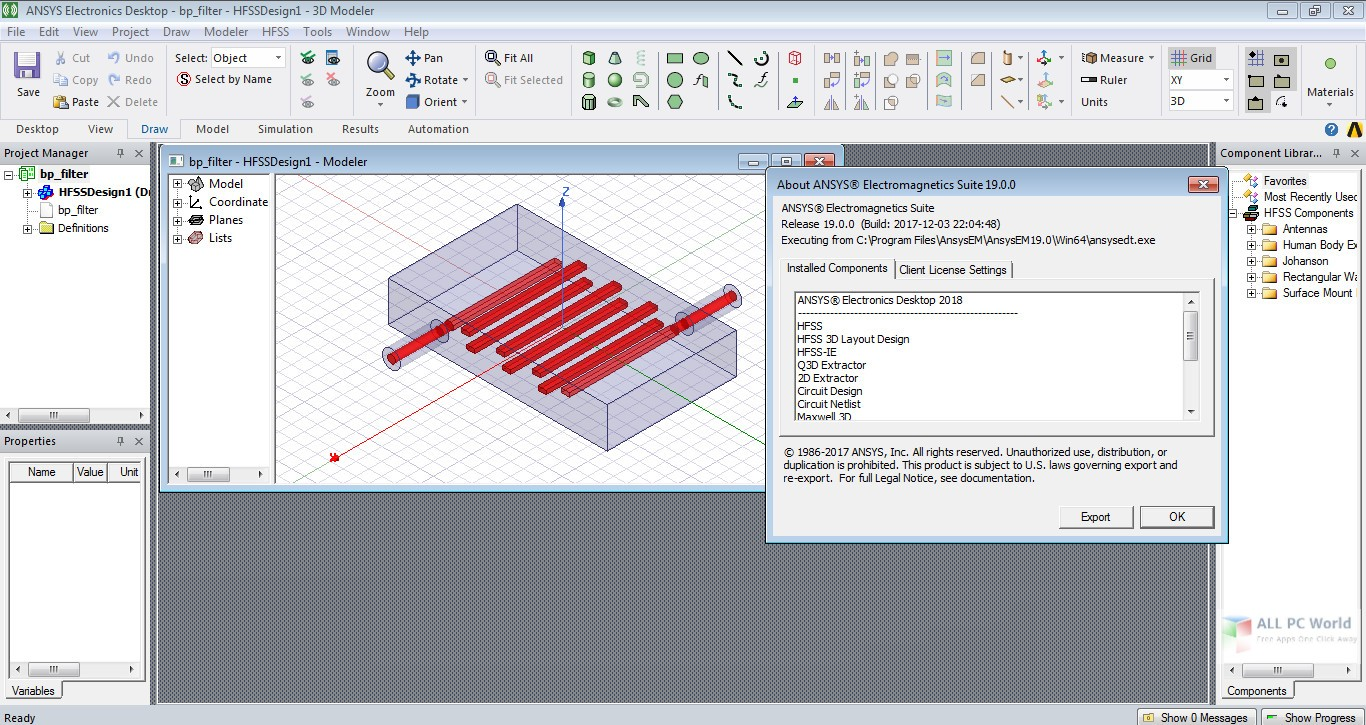 ANSYS Electronics Suite 2019 R2 Free Download