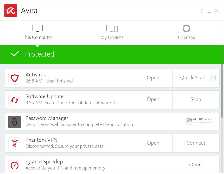 Avira Antivirus Pro 2019 v15.0