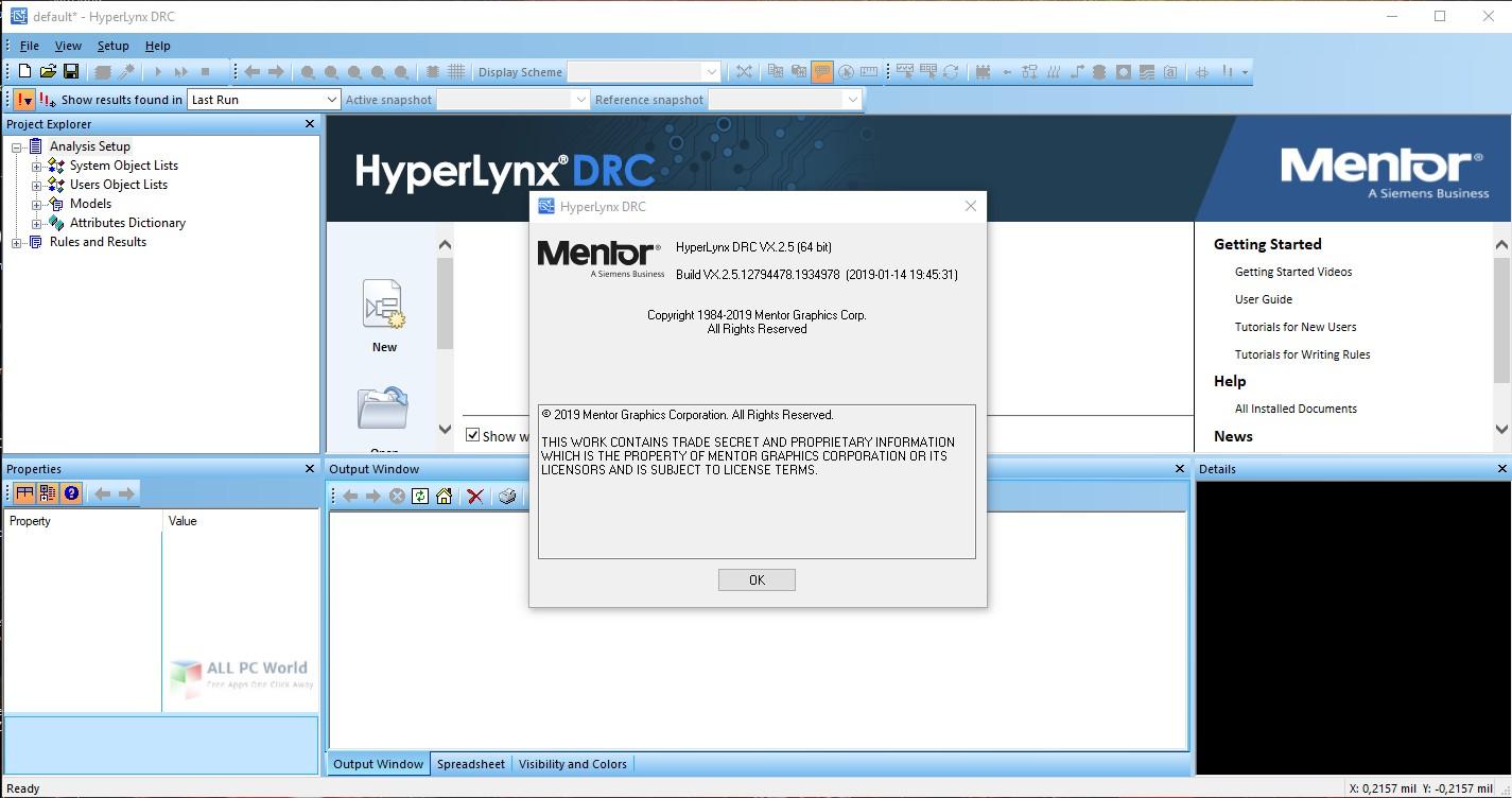 Mentor Graphics HyperLynx VX.2.5