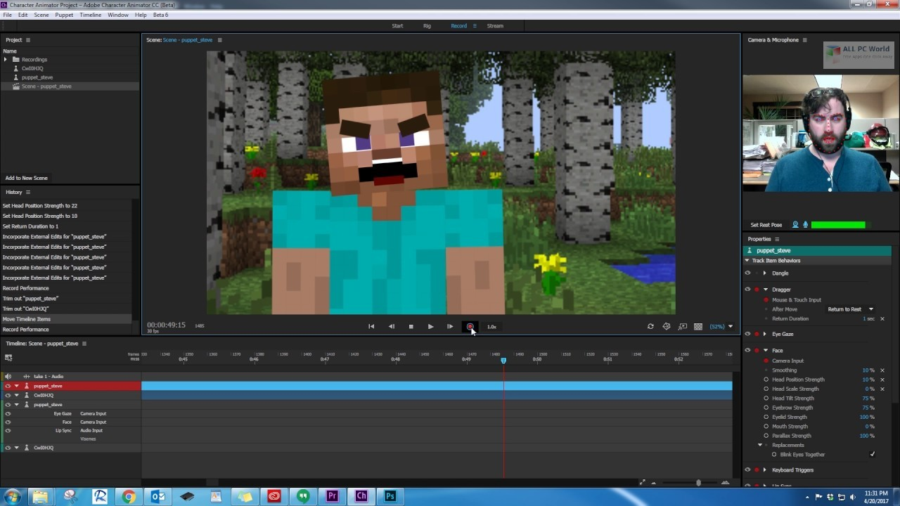 Adobe Character Animator CC 2019 v2.1 Free Download