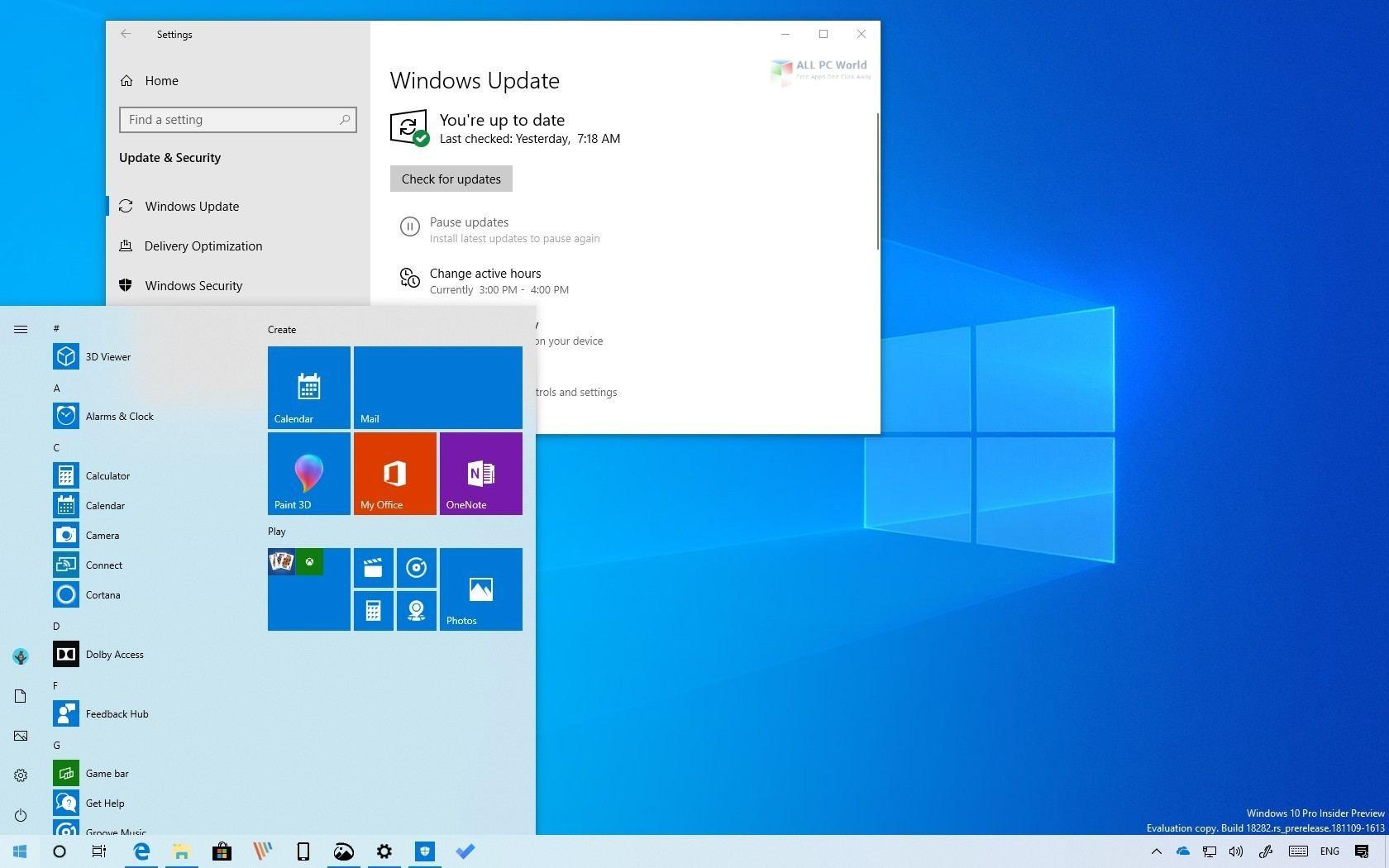 Windows 10 19H1 August 2019 Download