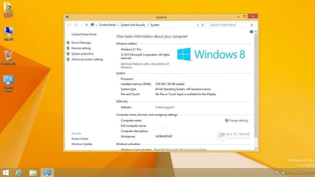 Windows 8.1 Pro X64 OEM ESD September 2019