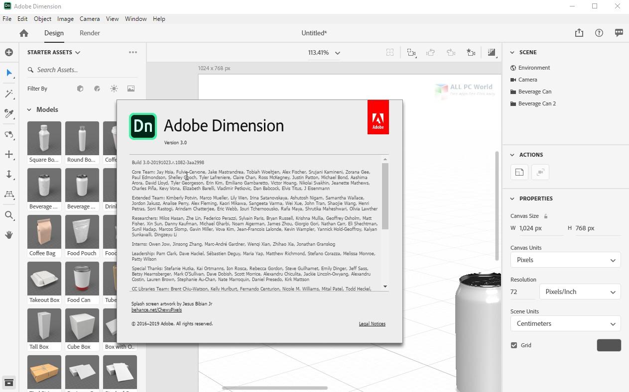 Adobe Dimension CC 2020 3.0