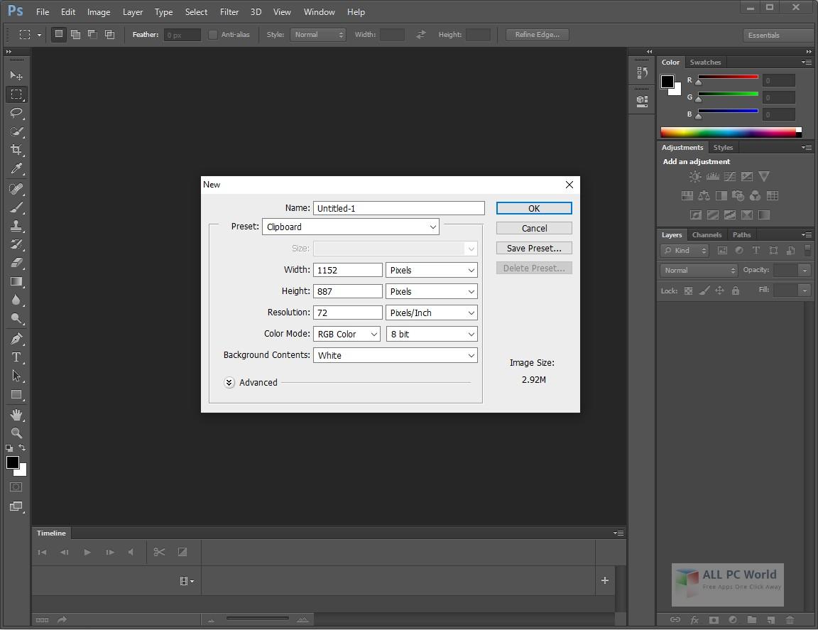 Adobe Photoshop CC 2020 21.0