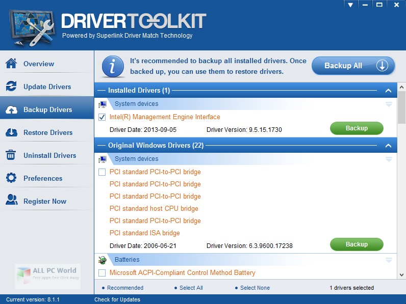 Megaify Driver Toolkit 8.5