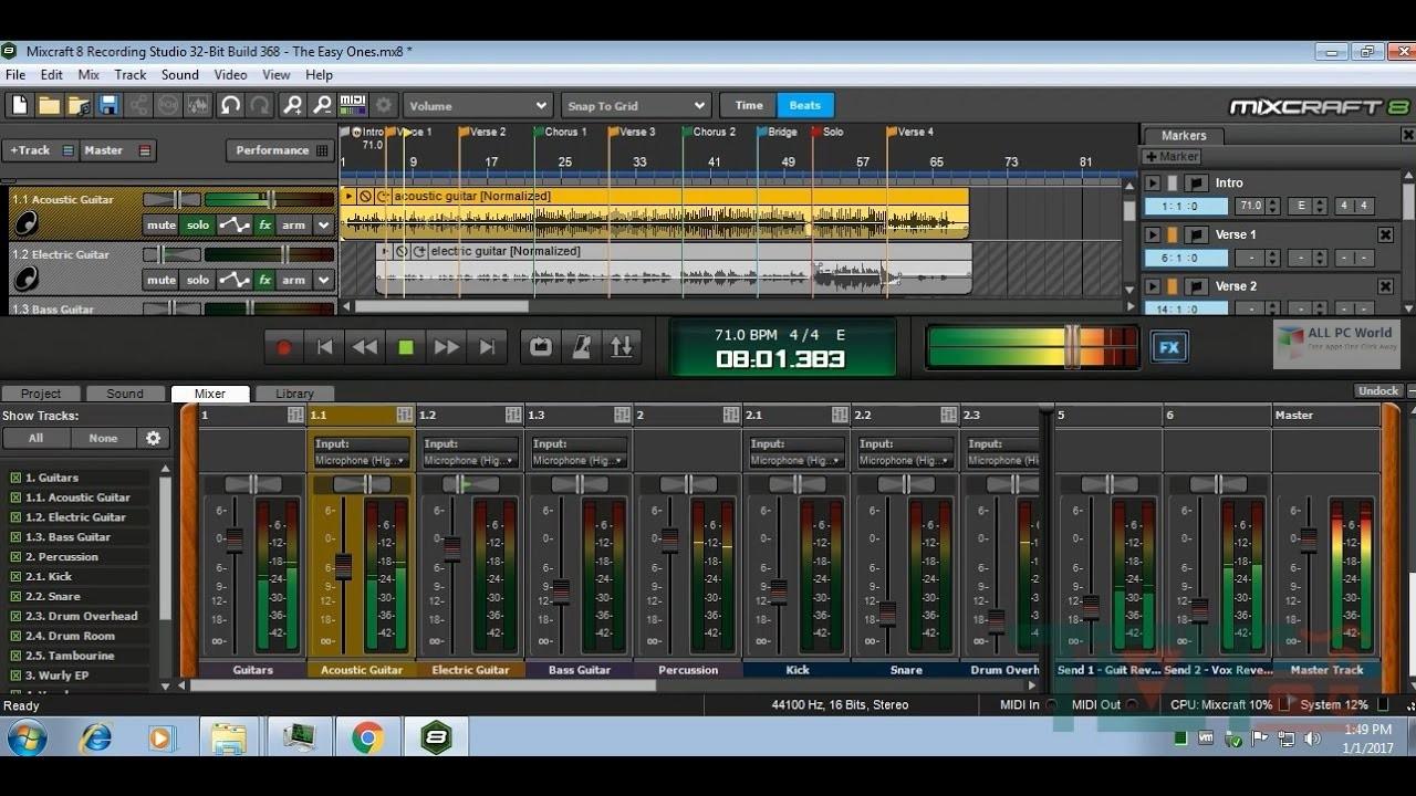 Acoustica Mixcraft Pro Studio 9 Free Download