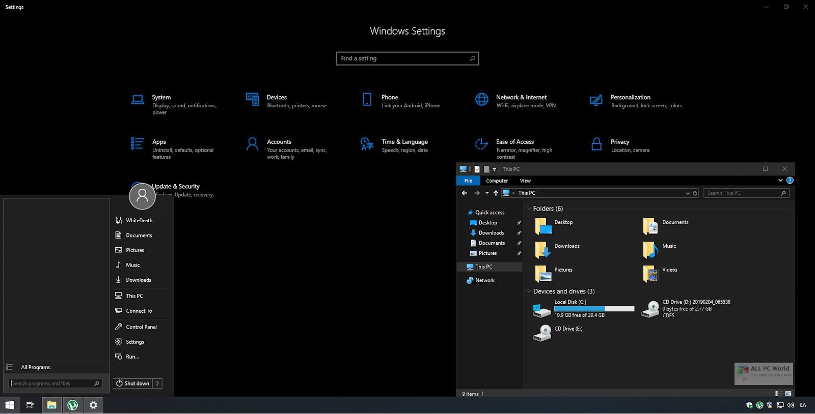 Windows 10 Lite Edition v11 November 2019 Download