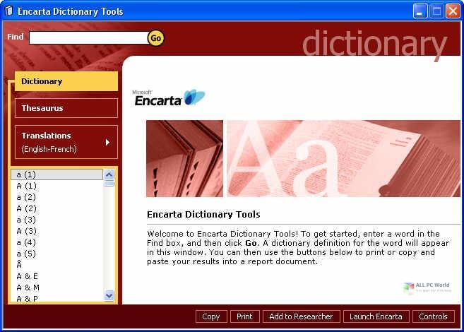Microsoft Encarta Dictionary Download