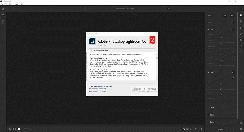 Adobe Photoshop Lightroom CC 3.1