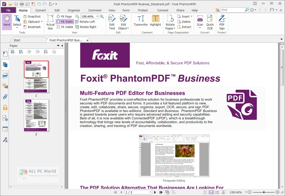 Foxit PhantomPDF Business 9.7