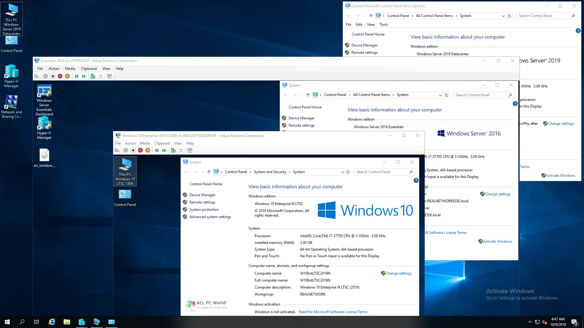 Windows Server 2019 DataCenter DEC 2019 Télécharger