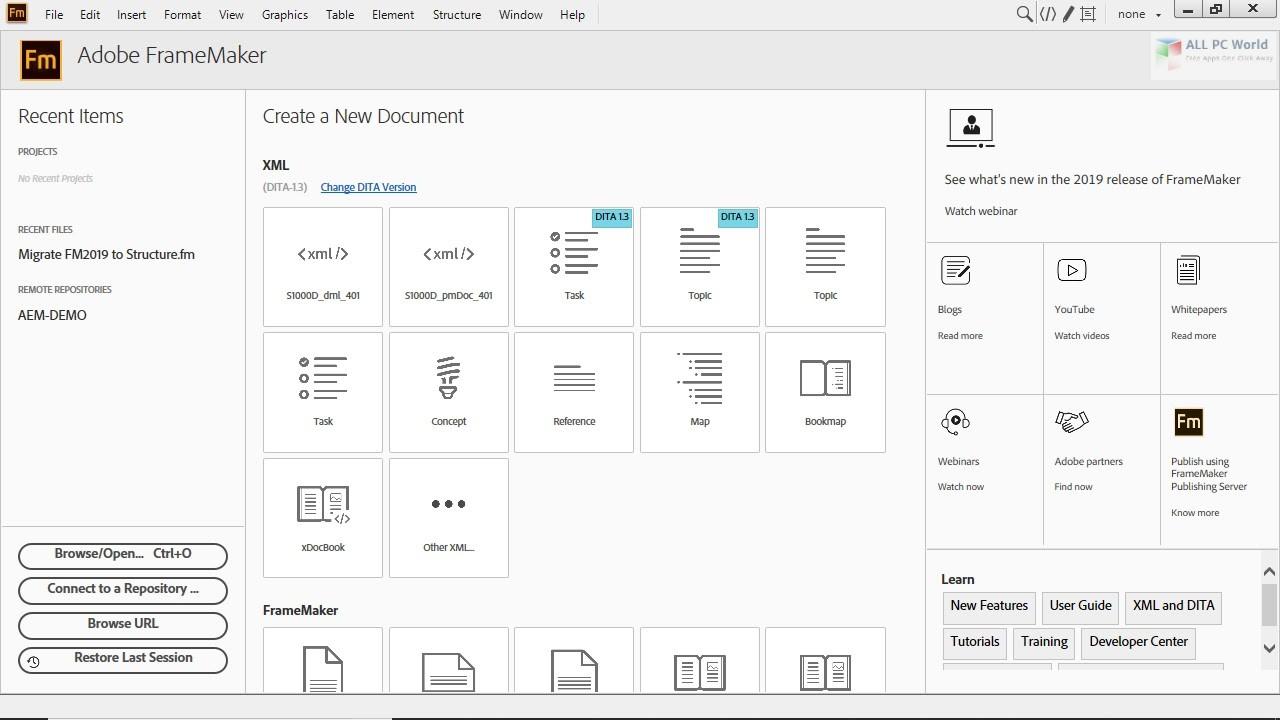 Adobe FrameMaker 2019 v15.0.5 Free Download