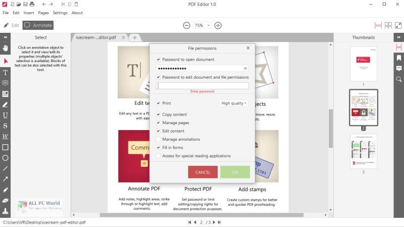 IceCream PDF Editor 2.08 Free Download