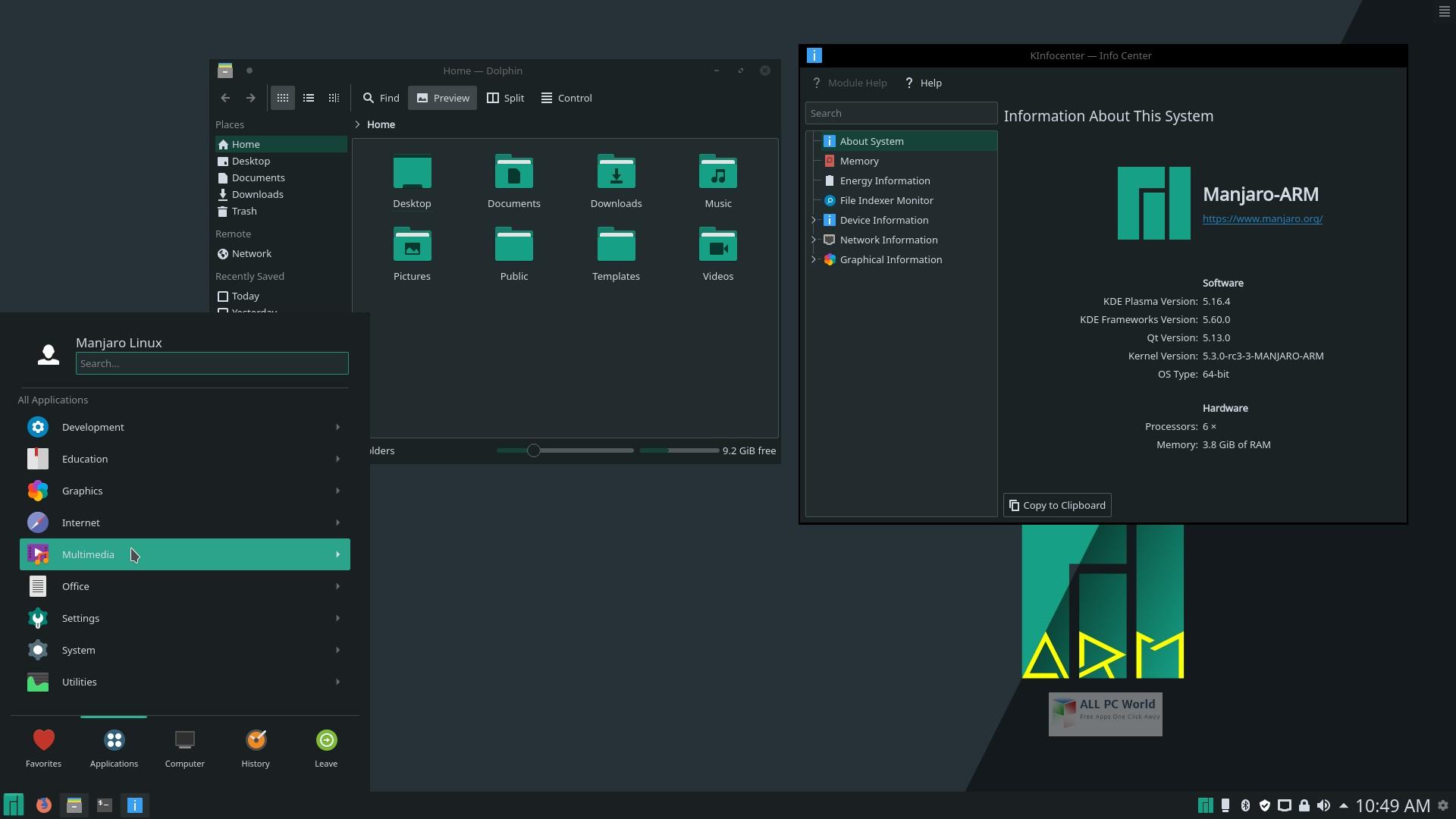 Manjaro Linux KDE Plasma 18.1.5 Download