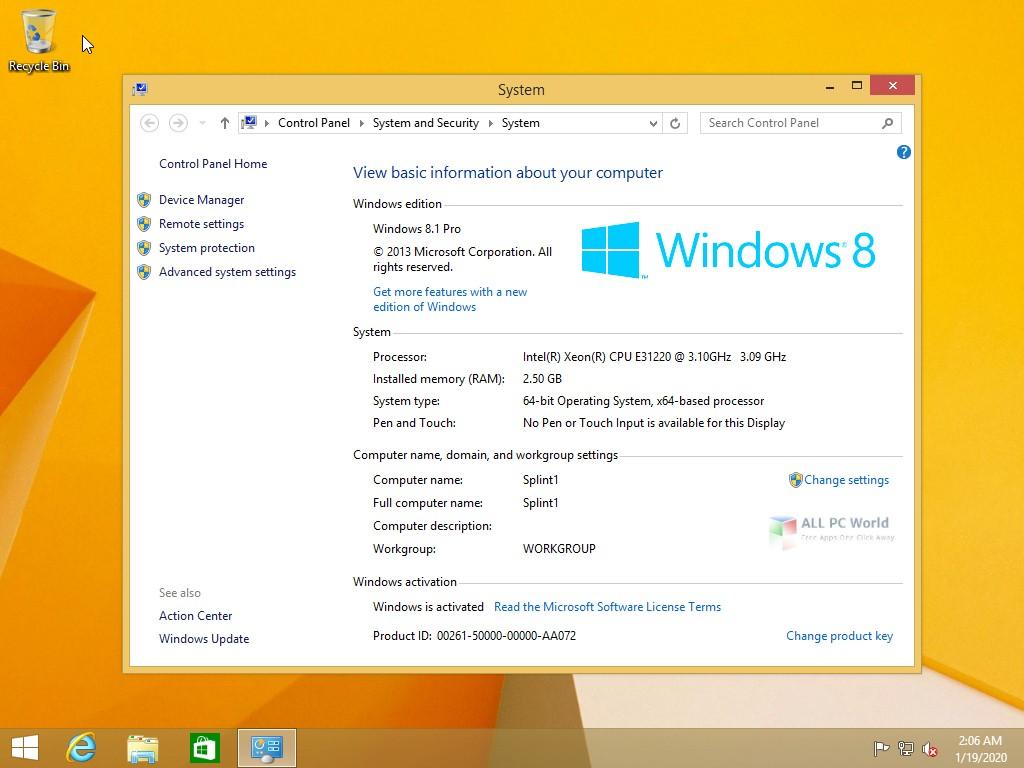 Windows 8.1 Pro JAN 2020 Download