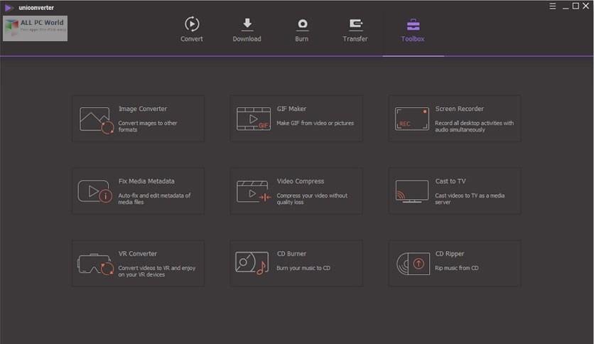 Wondershare UniConverter 11.7 Free Download