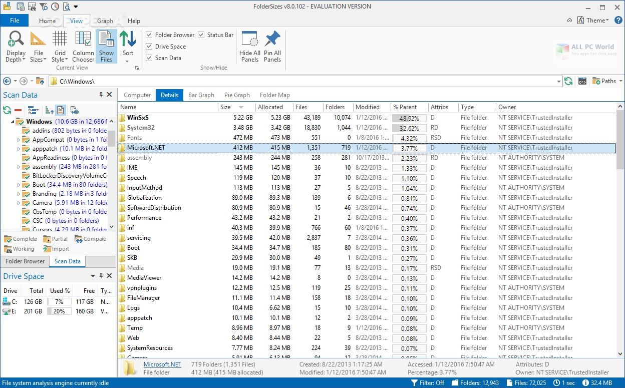 Key Metric FolderSizes 9.0 Free Download