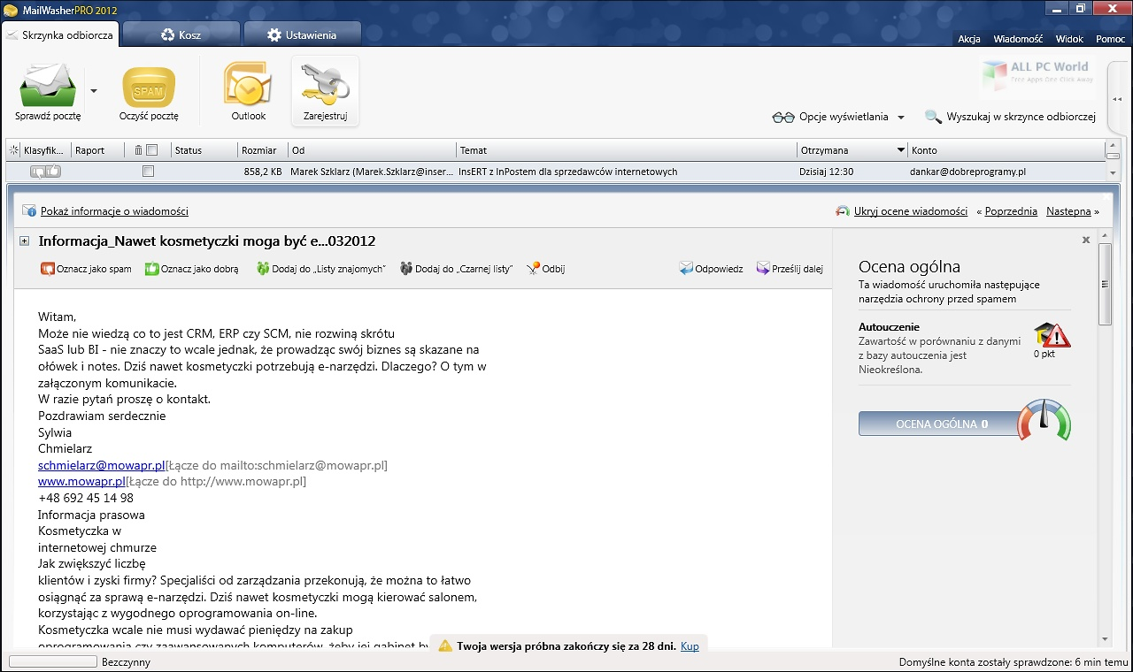 MailWasher Pro 7.12 for Windows