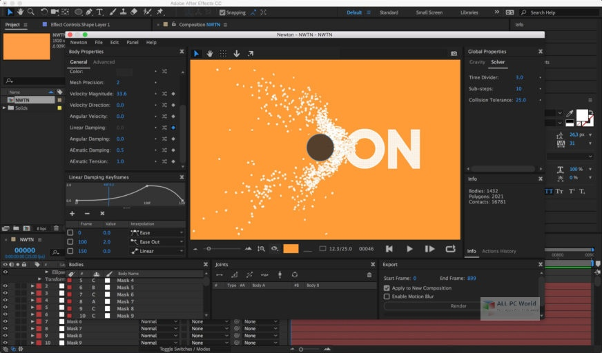Motion Boutique Newton 3.0 for After Effects