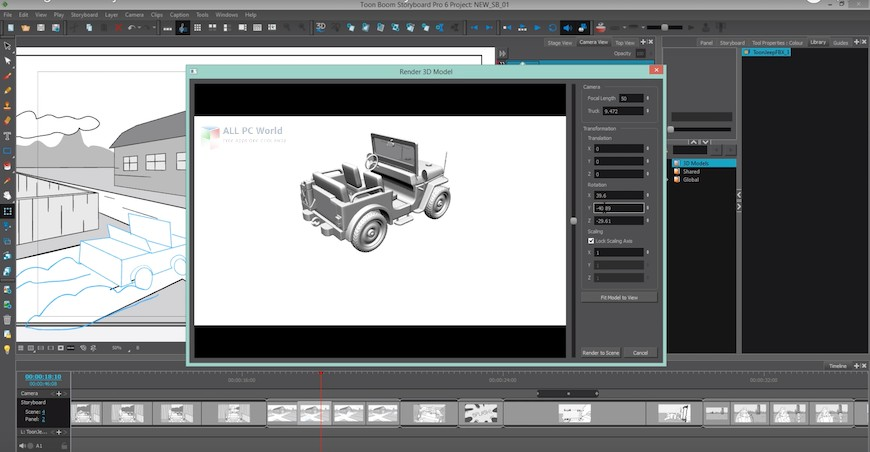 Toon Boom StoryBoard Pro 20 Free Download