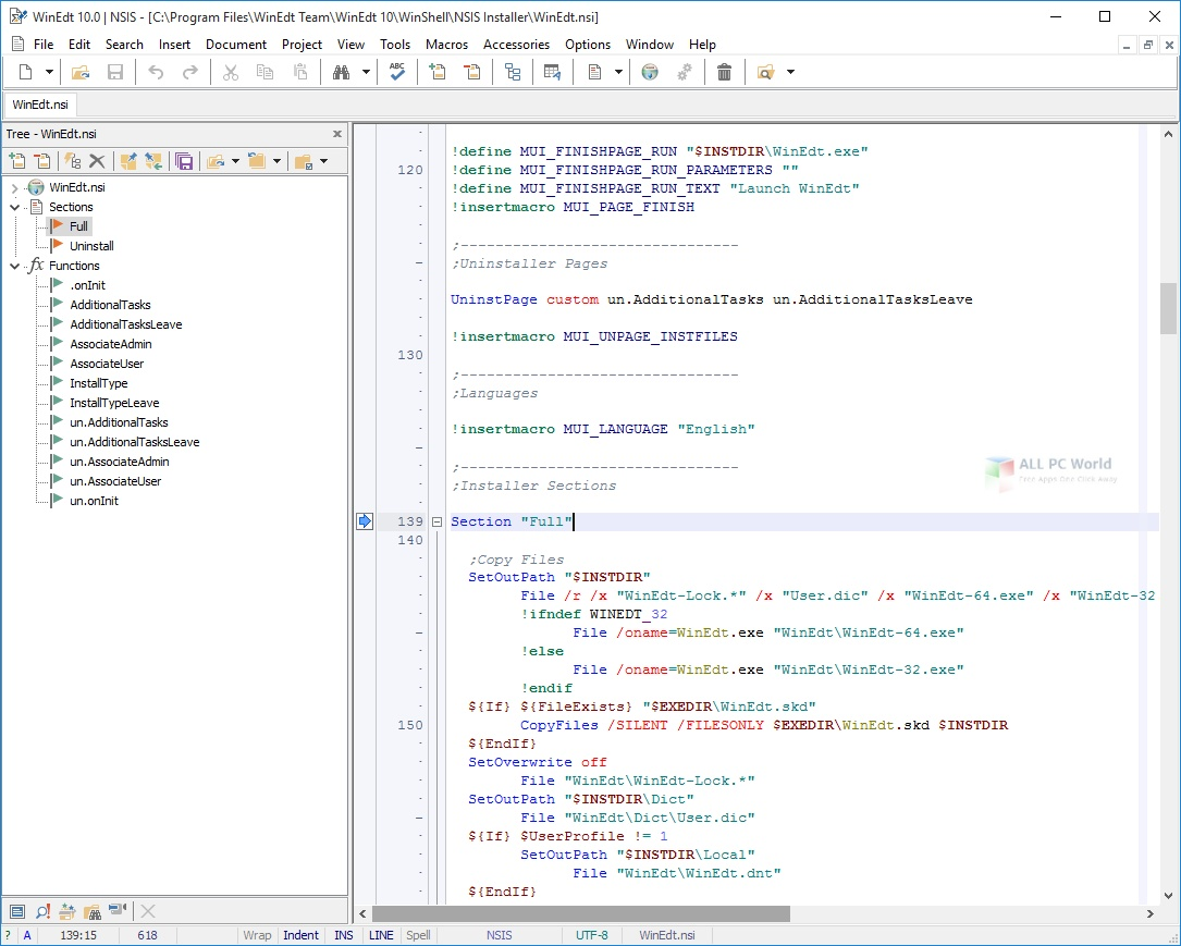 WinEdt 10.3 for Windows