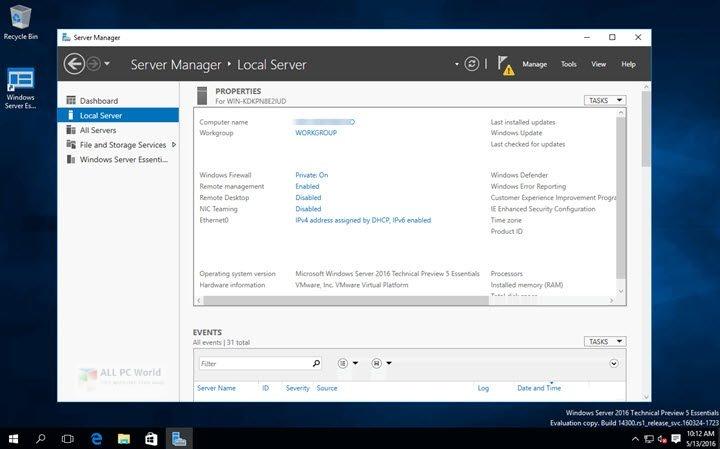 Windows Server 2016 X64 Standard ESD en-US MARCH 2020