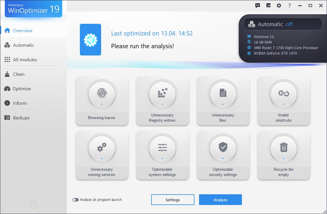 Ashampoo WinOptimizer Setup Download Free