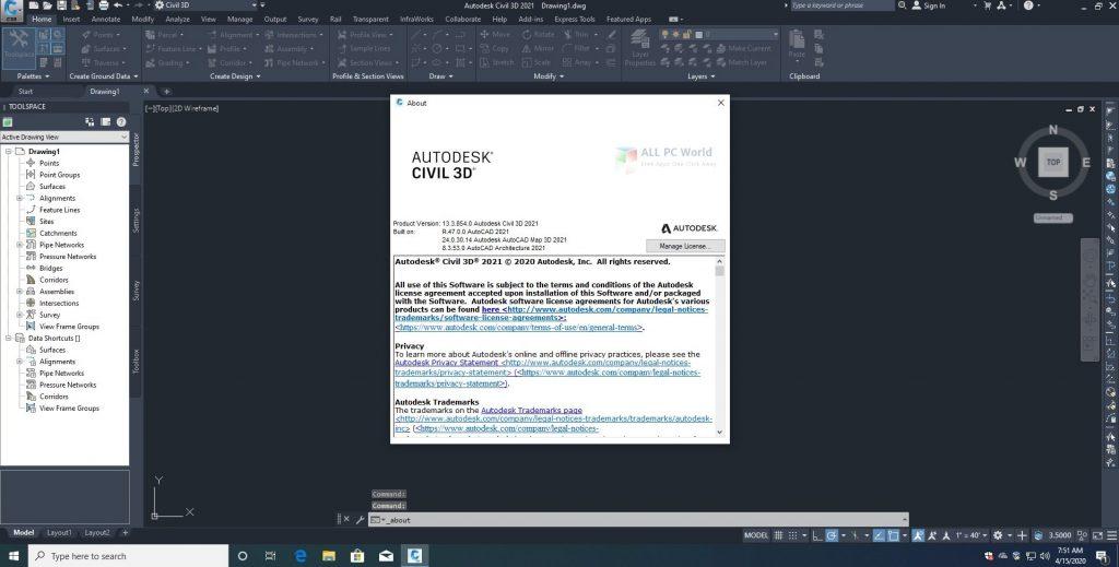 AutoCAD Civil 3D 2021