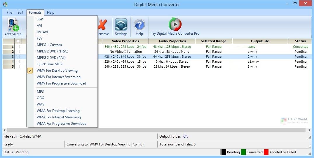 DeskShare Digital Media Converter Pro v4.16 Download